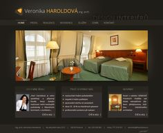 Webové stránky bytové designerky. #webdesign