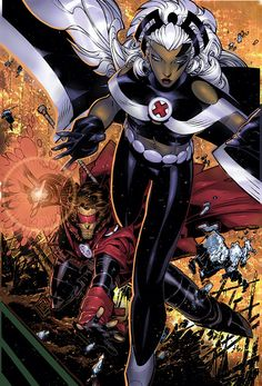 Storm and Gambit Age of Apocalypse by Chris Bachalo