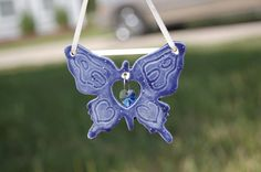 Hnacrafted Ceramic Butterfly Birthstone by AugustaWyndeDesigns, $12.00
