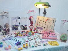 Mercatino di Natale 2014 Anvià zona Fimo collane, necklace, portachiavi, orecchini, bracciali