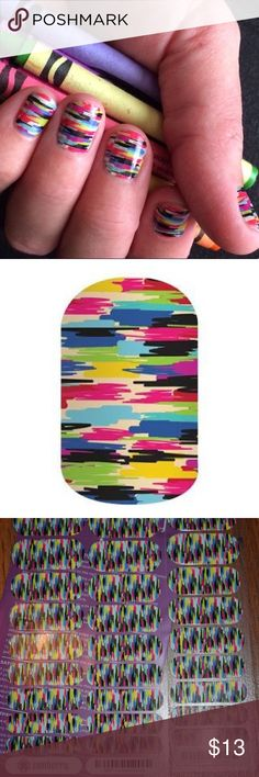 Jamberry Confused Canvas Nail Wraps Full sheet of Confused Canvas Jamberry Accessories