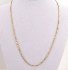 "Beautiful 14K Yellow Gold Rope Necklace 18-1/2"" w~ Safety Clasp  Offers considered."
