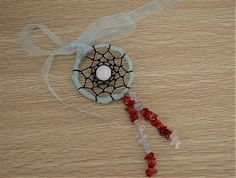 How To Make A Dreamcatcher Necklace With Ribbon  •  Free tutorial with pictures on how to make a dream catcher pendant in under 30 minutes