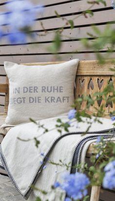 In der Ruhe liegt die Kraft // Strength lies in calmness Strength, Wellness, Throw Pillows, Vacation, Toss Pillows, Cushions, Decorative Pillows, Decor Pillows, Scatter Cushions