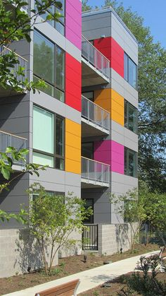 New apartment building designed by Suzane Reatig Architecture in the Shaw neighborhood of Washington, DC.