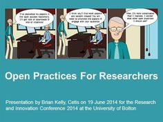 Open Practices For Researchers by briankelly via authorSTREAM
