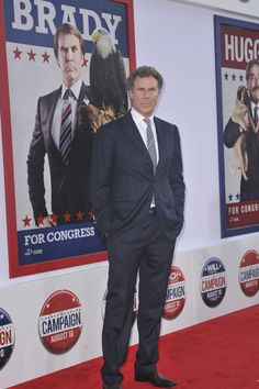 Will Ferrell and Zack Galifianakis get into character at The Campaign premiere