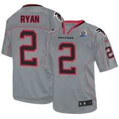 Nike Atlanta Falcons #2 Matt Ryan Lights Out Grey With Hall of Fame 50th Patch Men's Stitched NFL Elite Jersey