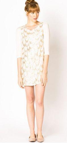 silk scalloped dress // a-thread
