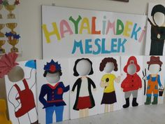 Meslekler Kindergarten Activities, Educational Activities, Preschool Crafts, Preschool Activities, Crafts For Kids, Colegio Ideas, English Projects, Holiday Program, English Activities