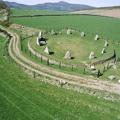 Easter Aquhorthies stone circle in 2002 by RCAHMS, via Flickr Aberdeenshire, Scotland