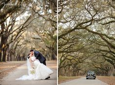 Woodland Fields Photography | Savannah Wedding Photography | Destination wedding | wormsloe historical site wedding | vintage going away car