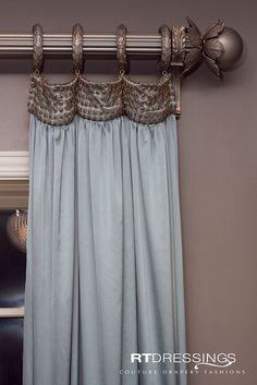 Bedroom curtains with blinds drapery hardware 70 Ideas Bedroom Curtains With Blinds, Plain Curtains, Elegant Curtains, Velvet Curtains, Drapery Designs, Drapery Ideas, Custom Window Treatments, Drapery Panels, Window Panels