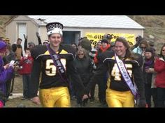 """Denver. Co   Rocky Mountain Lutheran team tried to clip the wings of the Gilpin Eagles.  Yet for king Andrew Immordino #54 and queen Val Romine #45, who was taken out of the game """"the Gilpin Eagles soared and scored and won 40-36 not only as royalty, but as teammates.  Aah, Hoping the Queens injury is just a minor setback and that they are soon off the field and dancing..."""