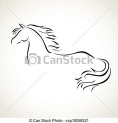 Vector - vector drawing horse - stock illustration, royalty free illustrations, stock clip art icon, stock clipart icons, logo, line art, EPS picture, pictures, graphic, graphics, drawing, drawings, vector image, artwork, EPS vector art
