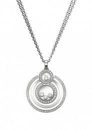 Chopard Pendant Happy 8 Pendant 18-karat white gold and diamonds