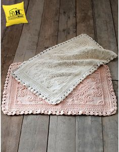 Tappeto shabby chic Jacquard Collection Blanc Mariclo 55 x 97 cm Colore Rosa