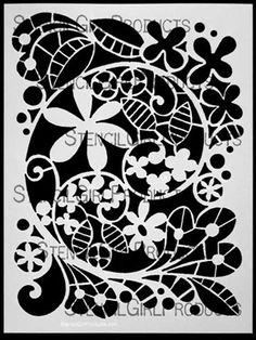 Garden Swirl Stencil