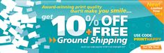 Use code PRINTHAPPY today and Get 10% off plus FREE Ground Shipping in the Continental USA.  :)      http://www.48hourprint.com/?utm_campaign=PRINTHAPPY_source=Pinterest_medium=social=PRINTHAPPY
