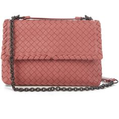 Bottega Veneta Olimpia small intrecciato leather shoulder bag (€2.315) ❤ liked on Polyvore featuring bags, handbags, shoulder bags, red leather handbags, shoulder handbags, red shoulder bag, red leather shoulder bag and red purse