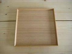 白木塗タモ8.5角盆