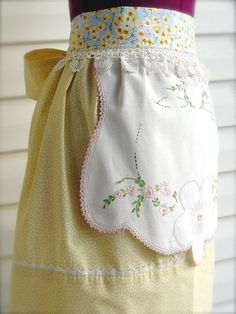 Beautiful embroidered apron