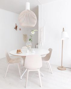 Diningroom with Hay table Secto lamp Ikea Odger chairs @Soohme