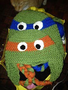 TMNT Crochet Hat Character Hat Crochet by CarolsCrochetnMore, $25.00