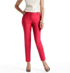 Pink ankle pants! So cute for work!