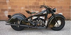 '46 Indian Chief Motorcycle. A Real Beauty! (like the blackout theme)