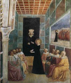 St. Catherine Disputing with Scholars 1425-31   Castiglione Chapel, San Clemente, Rome   Masolino da Panicale
