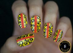 Summer leopard nails! Check out more info via A Positive Beauty nail art blog.  #nailart #leopardprint #summernails #summernailart #bblogger