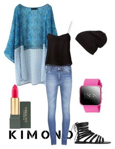 """Unbenannt #33"" by miss-kaethe ❤ liked on Polyvore featuring WithChic, Cheap Monday, T By Alexander Wang, Ancient Greek Sandals, MAC Cosmetics and kimonos"