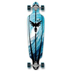 YOCAHER Drop Through Complete Longboard Professional Speed Skateboard