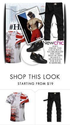 """""""NewChic Style IV/13"""" by amerlinakasumovic ❤ liked on Polyvore featuring Folio, vintage, men's fashion, menswear, polyvoreeditorial and PolyPower"""
