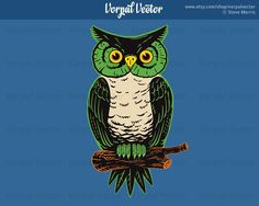 Halloween Owl Clip Art, Graphic Branch Spooky Clipart, Scrapbooking - Instant Download         October 21, 2015 at 08:23PM