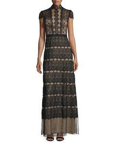 TBZQ5 Catherine Deane Firenze Lace & Point d'Esprit A-line Gown