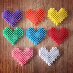 Happy Valentine's Day - Hearts perler beads by Tracey {Melbourne Mamma}