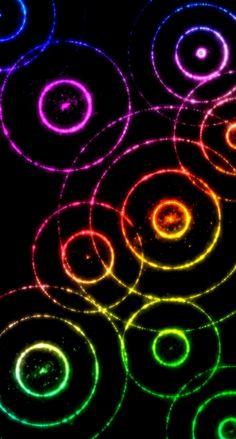 Colorful Wallpaper, Wallpaper Backgrounds, Iphone Wallpapers, Rainbow Colors, Bubbles, Abstract, Circles, Smartphone, Gifs
