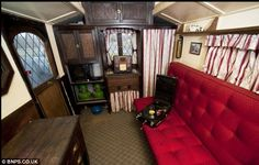 Upper class living: 'It is the Rolls Royce of caravans and Bertram Hutchings was one of the very early makers who moved from horse drawn coaches to caravans,' said the auction house
