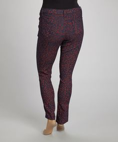 This Red Leopard Skinny Jeans - Plus is perfect! #zulilyfinds