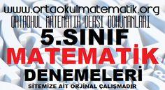 5. SINIF MATEMATİK DENEMELERİ