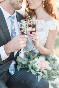 Southern Garden Chic Wedding Inspiration, garden wedding, wedding signature drinks