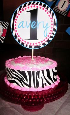 Zebra Party Decorations: Avery's Wild 1st Birthday Party  http://mimisdollhouse.com/zebra-party-decorations-avery/