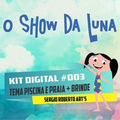 EARTH TO LUNA ( theme pool )  El mundo de Luna O Show da Luna Kit Scrapbook Digital Papers and Elements Cliparts 300 dpi Instant Download