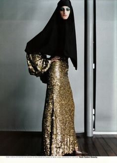 """From the editorial """"Couture de Monde"""" photographed by RUVEN AFANADOR for Vogue Paris. #hijabigalpins"""
