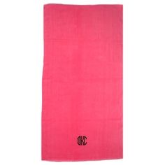 "Personalize this highly absorbent towel with your personally styled embroidered monogram. Available in 5 colors. Center monogram letter approximately 3"" tall depending on monogram style."