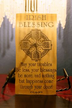 Irish Blessing with Celtic Knots Glass Tile, x Photo Engraving, Laser Engraving, Celtic Decor, Painting Ceramic Tiles, St Patrick's Day Crafts, Celtic Knots, Photo Ornaments, Irish Blessing, Heart Ornament