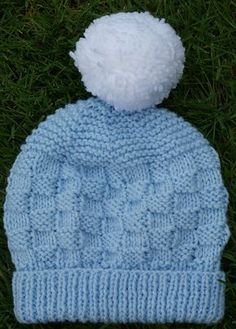 A simple and cute hat suitable for a novice knitter. Designed to match and use up left over yarn from the Bunny in a Basket blanket.