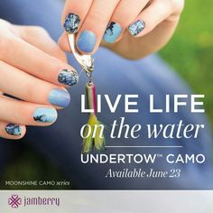 Undertow camo jamberry!  I so adore these wraps!!! arianakilby.jamberrynails.net